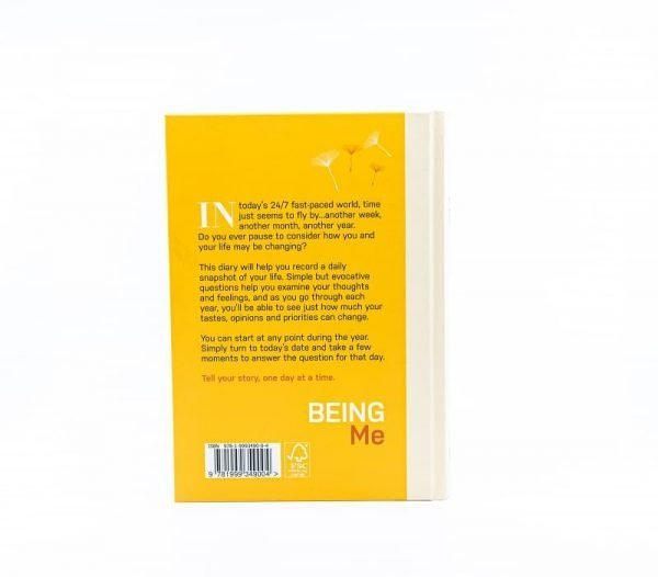 Being Me Diary backcover